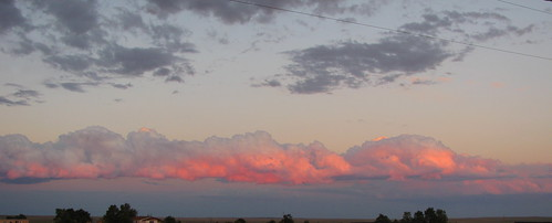 Western clouds at sunset