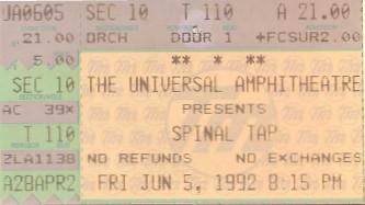 Spinal Tap, Universal