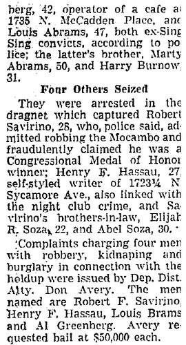 Jan. 16, 1947-Al picked up re Macambo Heists2