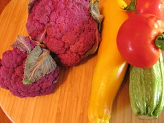 Colorful veggies from Portland's Farmers' Market