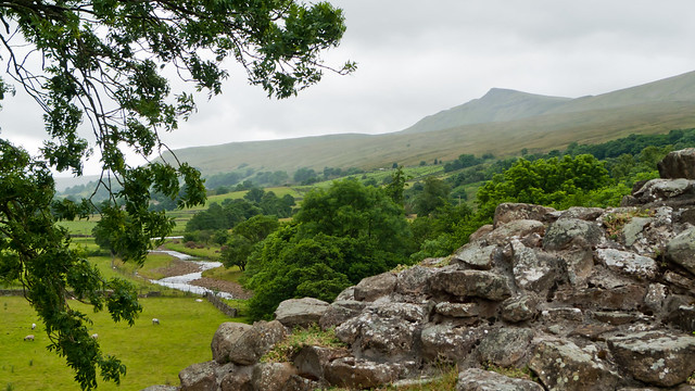 The view from Pendragon Castle