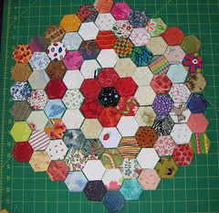 hexies with scrappy rings