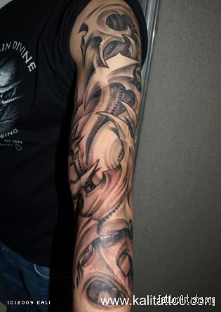 bio mechanical tattoo