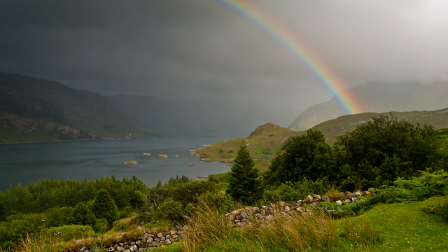 Rainbow over Loch Glencoul