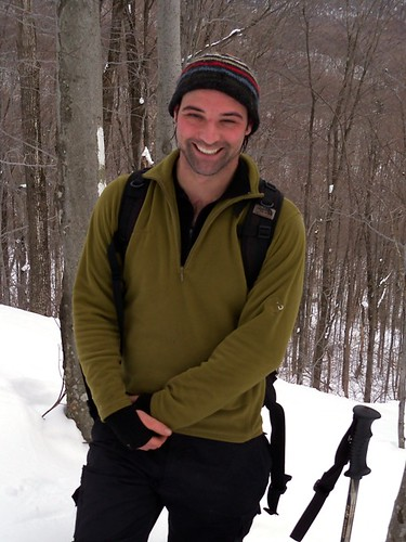 Neil snowshoeing