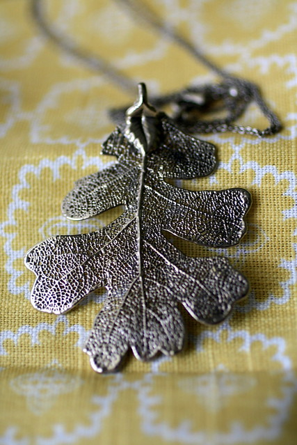 Silver Dipped Oak Leaf