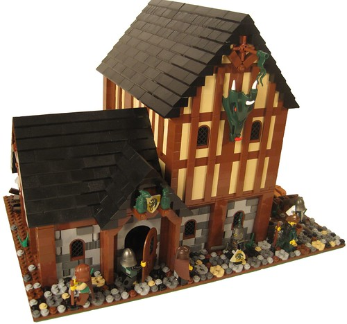 LEGO Green Dragon Tavern by Matthew Hurt