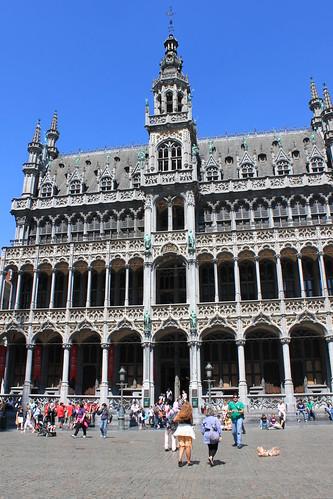 Verdes en la Grande Place de Bruselas