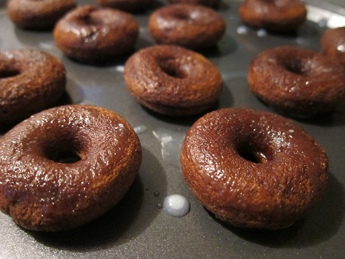 Chocolate Glazed Mini Doughnuts