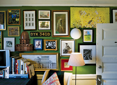 dorm room salon wall