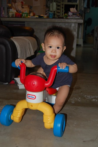First ride on korkor's tricycle