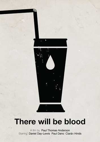 'There will be blood pictogram' movie poster