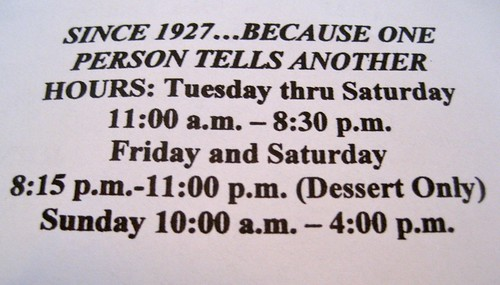 Since 1927...Because One Person Tells Another