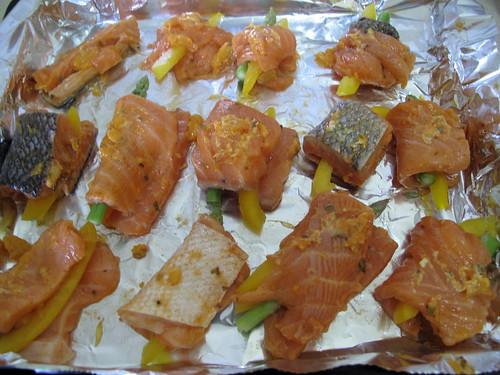 Breadcrumb & Salmon Veg Roll 1