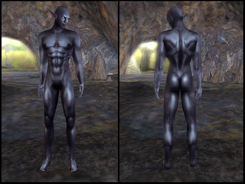 male dark elf - skin detail