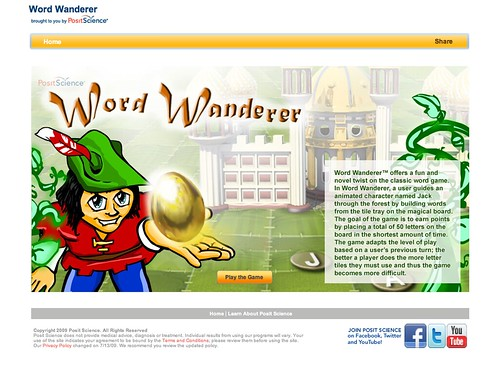 Serious Games: Word Wanderer