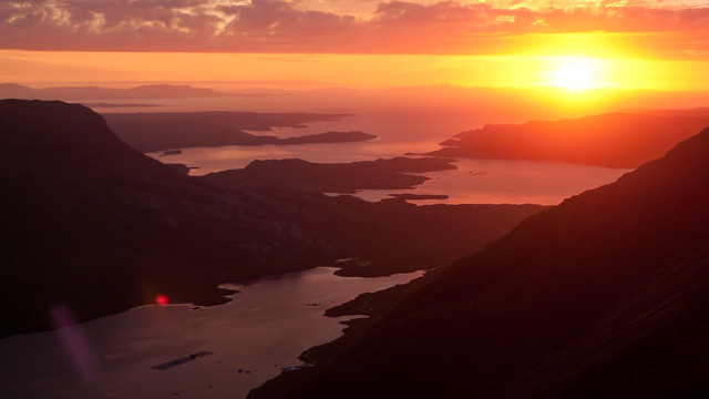 Sunset from Beinn Damh, Torridon