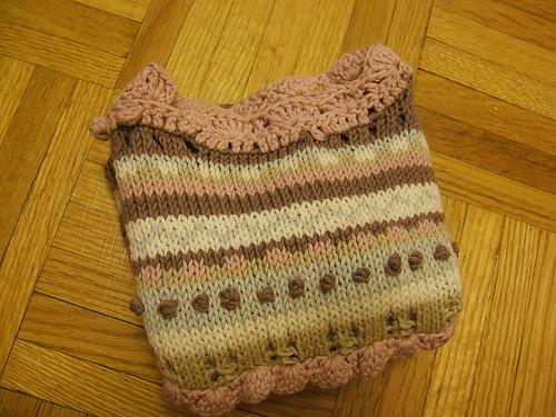 Eggie's sweater folded