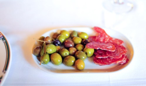 Olives and Sausages
