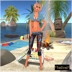 _TuttiFrutti_ Beach Days - Cornflower
