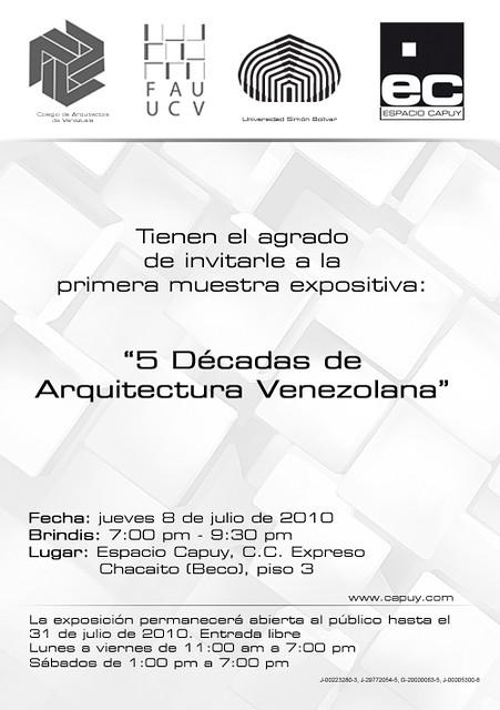 Expo 5 décadas de Arquitectura Venezolana