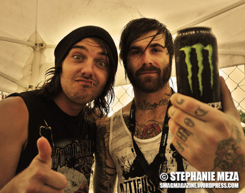 Shayley Bourget and Jerry Roushe from Of Mice and Men