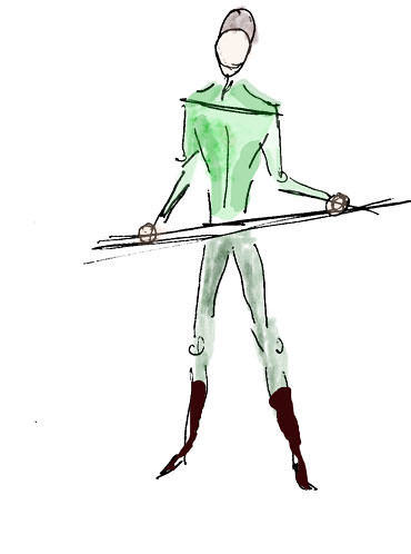 Man in Green, sketch