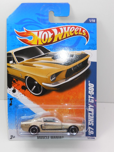 hot wheels '67 shelby gt-500 gold (1)