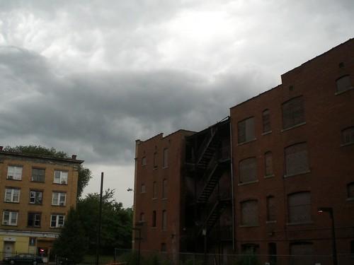 Menacing Clouds, Frog Hollow, Hartford, Conn.