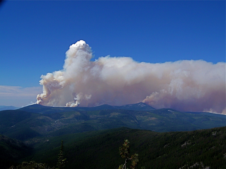 Thompson Peak area during the Chippy Creek fire in 2007