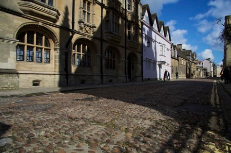 Merton Street, cobbled, Oxford