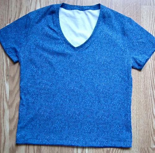blue print tshirt flat