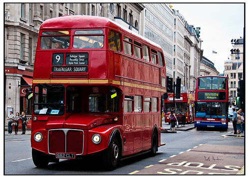 London Bus to Trafalgar Square