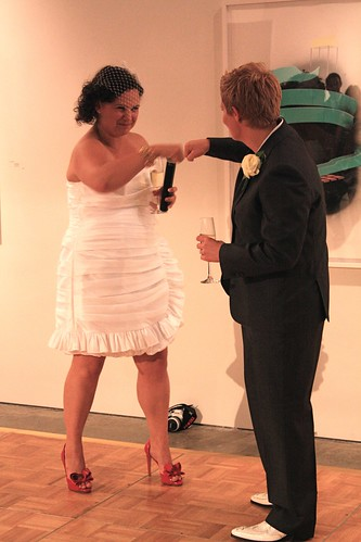 Wedding Fist-Bump!