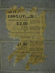 $2 minimum wage poster