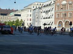 自転車のレースだ!