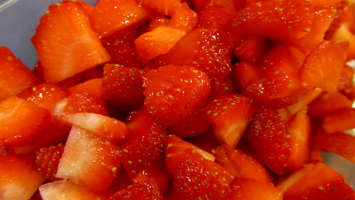 More chopped strawberries