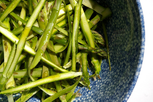 Asparagus shavings