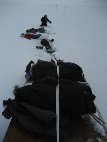 Dragging a heavy sled at 10,000 ft is hard work