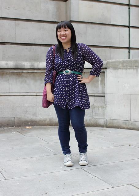 Polkadot blouse (Credit-Nice and Shiny)