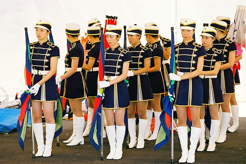 Marching girls