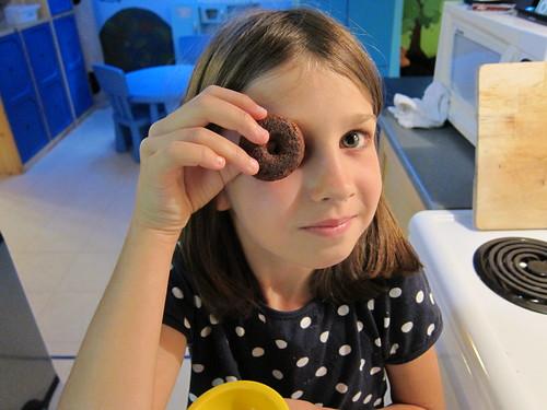 Chocolate Glazed Mini Doughnuts