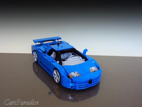 Bugatti EB110 SS - rear spoiler up