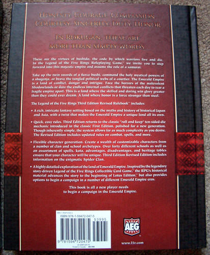 Rear cover of Legend of the Five Rings