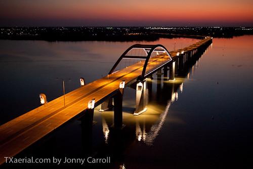 Swisher Toll Bridge night