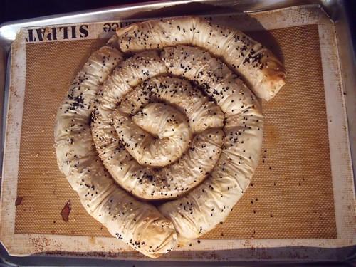 Potato Phyllo Snake