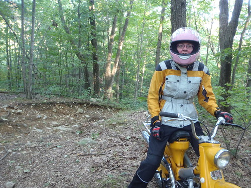 Me on the Honda Trail after a difficult hill