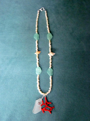 Seaglass & Coral necklace