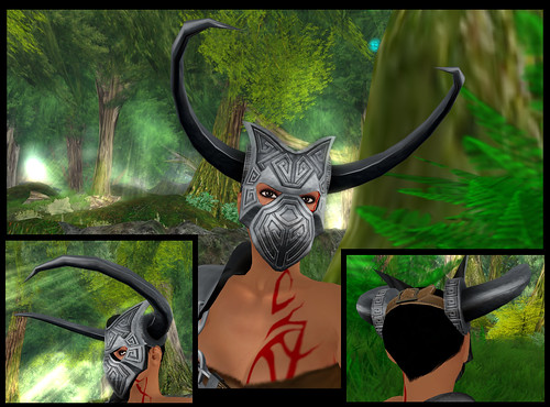 female barbarian - helmet detail