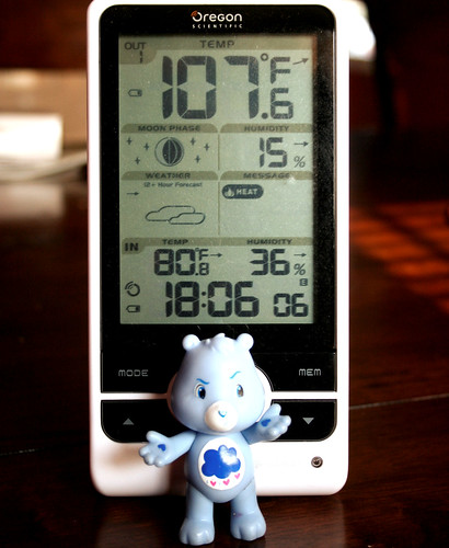 Although hot, it's not become quite this bad around here. Yet.